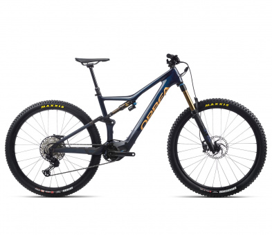 Orbea RISE M10 - 2021 | Coal Blue - Red Gold
